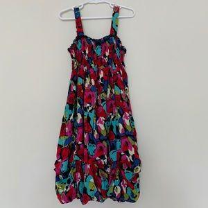 Zunie Sleeveless Floral Tiered Dress Girls